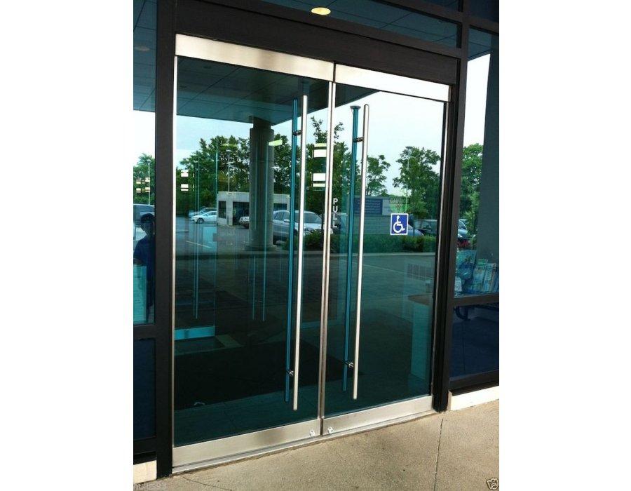 Bazalı cam kapı sistemi