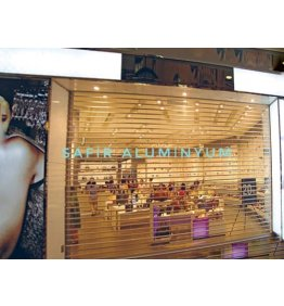 Transparan mağaza kepenkleri