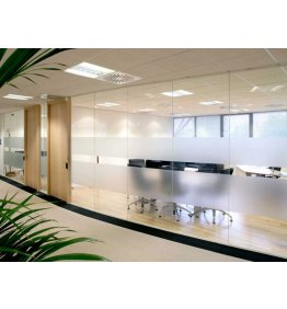 Alüminyum camlı ofis bölme sistemi